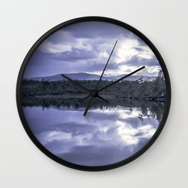 Cloud reflection over the lake Wall Clock