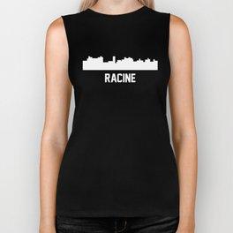 Racine Wisconsin Skyline Cityscape Biker Tank