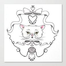 Cat Crest Canvas Print