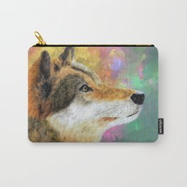 Wolf in the Wild Colors of the Wind Carry-All Pouch