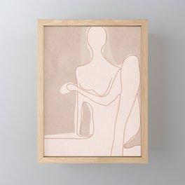 Abstract Woman Figure Framed Mini Art Print