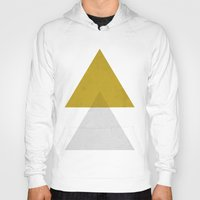 triangles Hoodies featuring Triangles by Nan Lawson