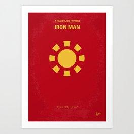 No113-1 My Iron 1 minimal movie poster Art Print
