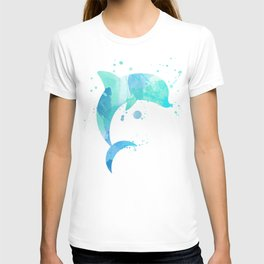 Turquoise Watercolor Dolphin T-shirt