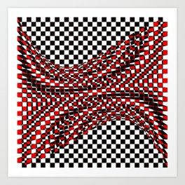 black white red Art Print