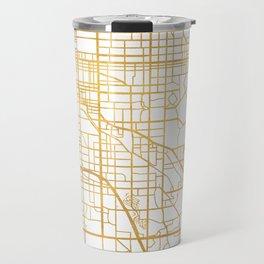 DENVER COLORADO CITY STREET MAP ART Travel Mug
