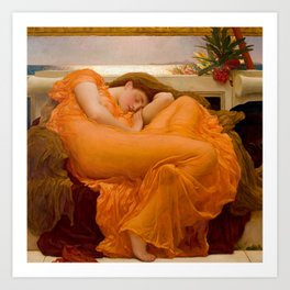 "Frederic Leighton ""Flaming June"" Art Print"