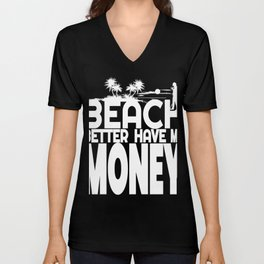 Beach Metal Detecting T-Shirt Metal Detector Tee Unisex V-Neck