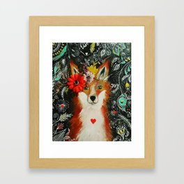 Fox - she observes with curiosity and brings magic into life Framed Art Print
