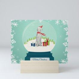 SNOWGLOBE WEIMARANER Mini Art Print
