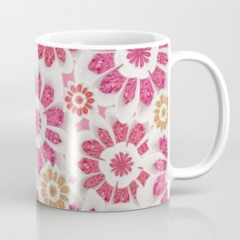 Feminine Flowers Pattern Coffee Mug