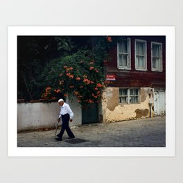 Istanbul, Summer, Travel, Travel Photography, Creative Photography, Street Photography, Humans, Flow Art Print