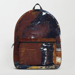 Brown Bottle with Glass Backpack