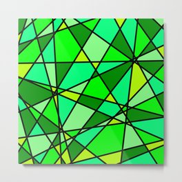 Shattered Green Metal Print