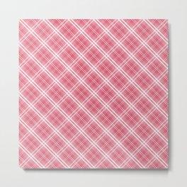 Nantucket Red and White Tartan Plaid Check Metal Print