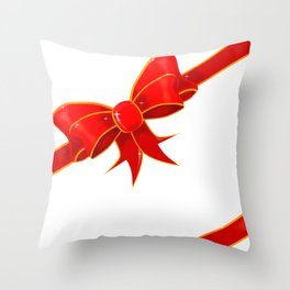 Parcel Bow Throw Pillow