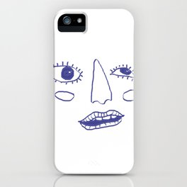 whoah face iPhone Case