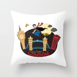 Harry Potter's London Throw Pillow