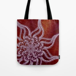 Icy Bloom, Hot Canvas Tote Bag