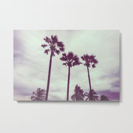 Cali Palm trees Metal Print