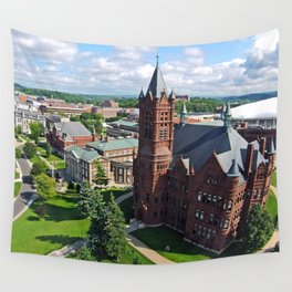 Syracuse University Hill Aerial Photo Wall Tapestry