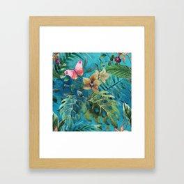 Pink Butterfly Framed Art Print