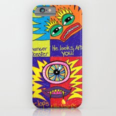 Crayon drawn Monsters iPhone 6s Slim Case