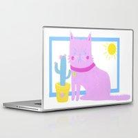 kurt rahn Laptop & iPad Skins featuring Kurt the Cat by Madelen Foss