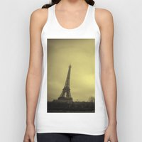 eiffel tower Tank Tops featuring Eiffel Tower by alexaxm
