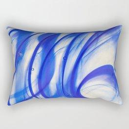 Abstract blue glass texture Rectangular Pillow
