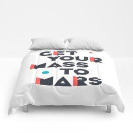 Get Your Mass to Mars (Modern/Dark) Comforters