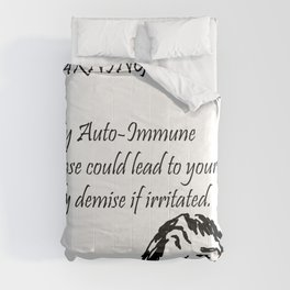 Auto-Immune Disease Warning Comforters