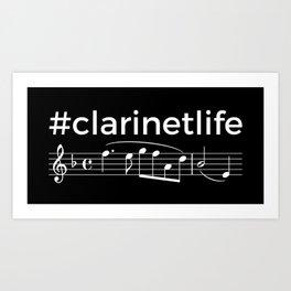 #clarinetlife (dark colors) Art Print
