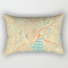 New Haven Map Retro Rectangular Pillow