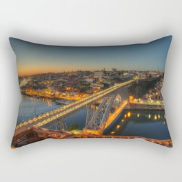 Porto twylight bridge Rectangular Pillow