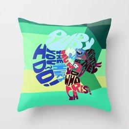 ruby x sapphire Throw Pillow