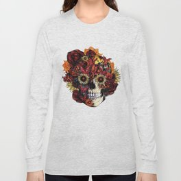 Full circle...Floral ohm skull Long Sleeve T-shirt