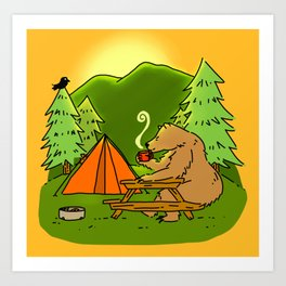 Mountain Air Booty Bear Art Print