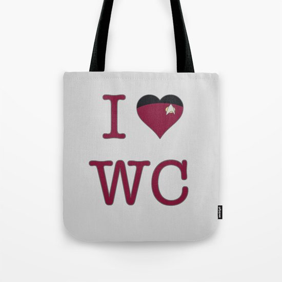 I Heart Wesley Crusher Tote Bag