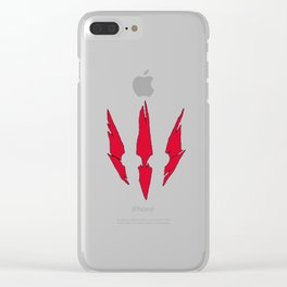 The Witcher Logo Clear iPhone Case