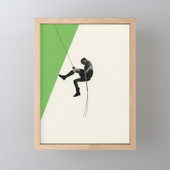 Descent II Framed Mini Art Print