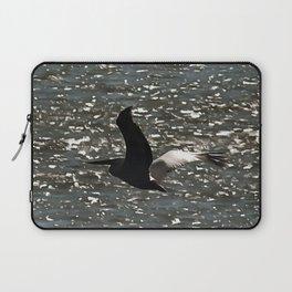 Pelican Flying Over Shimmering Lake Bafa Laptop Sleeve