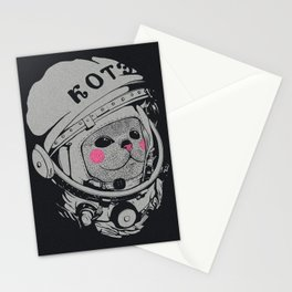 Spaceman cat Stationery Cards