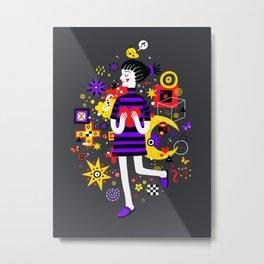 Girl with a big heart Metal Print