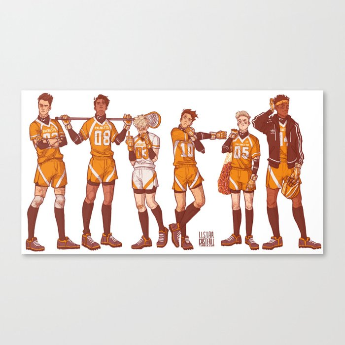 foxhole court boys Leinwanddruck