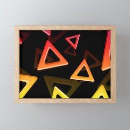 80's Triangles Framed Mini Art Print