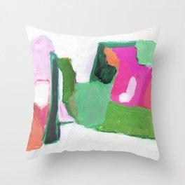 Streamline (watermelon) Throw Pillow