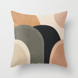 abstract minimal sunrise Throw Pillow