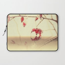 Winter time with red rosehips Laptop Sleeve