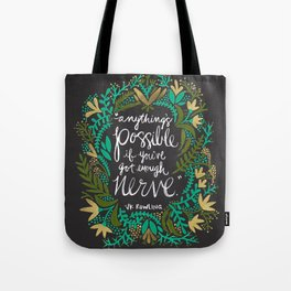 Anything's Possible on Charcoal Tote Bag